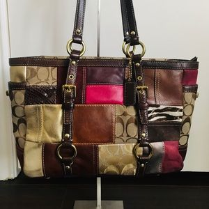 Coach Legacy Limited Edition Patchwork Bag 10437